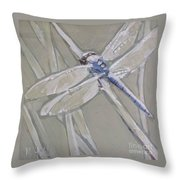 Marsh Dragonfly Throw Pillow