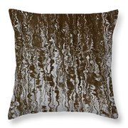 Marsh Grass Reflections Abstract 2 Throw Pillow