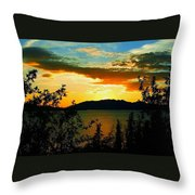 Marsh Lake - Yukon Throw Pillow