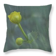 Marsh Marigold Bud Throw Pillow