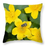 Marsh Marigold Throw Pillow
