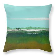 Marsh Pier Throw Pillow
