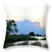 Marsh-set Throw Pillow
