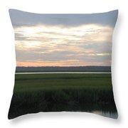 Marsh Sunset 1 Throw Pillow