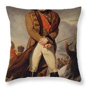 Marshal Michel Ney 1769-1815 Duke Of Elchingen Oil On Canvas Throw Pillow