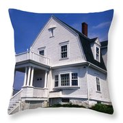 Marshall Point Keepers House Throw Pillow