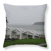 Marshall Point Light Station - Maine Throw Pillow