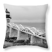 Marshall Point Lighthouse 2937 Throw Pillow