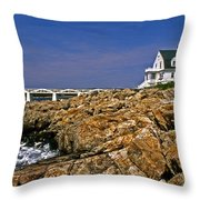 Marshall Point Lighthouse Complex Throw Pillow