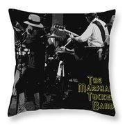 Marshall Tucker At Winterland 1976 Throw Pillow