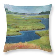Marshes At High Tide Throw Pillow