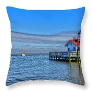 Marshes Lighthouse Throw Pillow