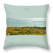 View Of St. Augustine's Cross Throw Pillow