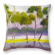 Marshlands Murray River Red River Gums Throw Pillow