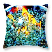 Marshmallow Fire Abstract Throw Pillow