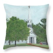 Martha Mary Chapel Throw Pillow by Cliff Wilson