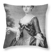 Martha Washington (1732-1801) Throw Pillow