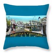 Martha's Vineyard Collage Throw Pillow