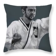 Martial Willie Throw Pillow