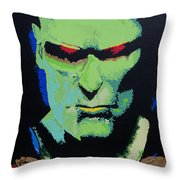 Martian Manhunter - A Close Encounter Throw Pillow