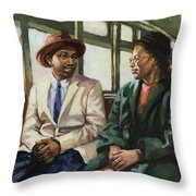 Martin And Rosa Up Front Throw Pillow by Colin Bootman