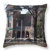 Martin Luther King Jr. And Sixteenth Street Baptist Church Throw Pillow