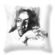 Martin Luther King Jr Throw Pillow