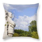 Martin Luther King Jr Memorial And The Washington Monument Throw Pillow