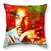 Martin Luther King Jr Throw Pillow