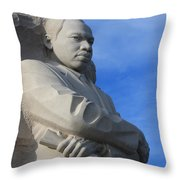 Martin Luther King Jr Monument Detail Throw Pillow