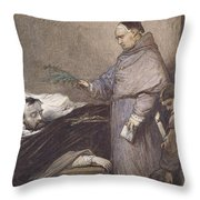 Martin Rithone Blessing The Body Of The Count Of Egmont Wc On Paper Throw Pillow