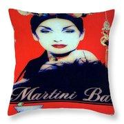 Martini Bar Throw Pillow