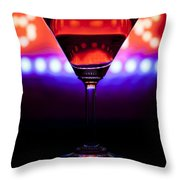 Martini Bar Throw Pillow
