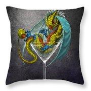 Martini Dragon Throw Pillow
