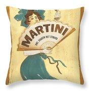 Martini Dry Throw Pillow by Debbie DeWitt