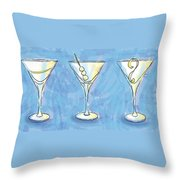 Martini Lunch Throw Pillow