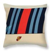 Martini Porsche Throw Pillow