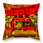 Martini Time Throw Pillow