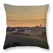 Martinshoehe In Fall Throw Pillow by Jeffrey Teeselink