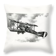 Martinsyde G 100 Throw Pillow by James Williamson