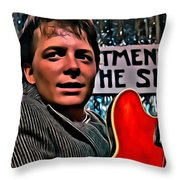 Marty Mcfly Throw Pillow