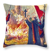 Martyrdom Of Ridley And Latimer, 1555 Throw Pillow