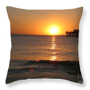 Marvelous Gulfcoast Sunset Throw Pillow