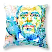 Marvin Gaye - Portrait Throw Pillow