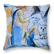 Mary And Gabriel Throw Pillow