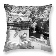 Mary And John Tyler Memorial Near Infrared Black And White Throw Pillow