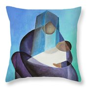 Mary And Messiah Throw Pillow