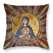 Blessed Virgin Mary And The Child Jesus Throw Pillow