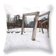 Mary Bartelme Park Throw Pillow