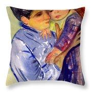 Mary Cassatt Helene De Septeuil In Watercolor Throw Pillow